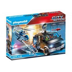 PLAYMOBIL City Action 70575 Policyjny Helikopter Pościg za Uciekającym Samochodem