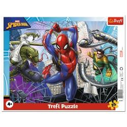 TREFL Puzzle na Podkładce w Ramce 25 Elementów SPIDERMAN Odważny Spiderman 31347