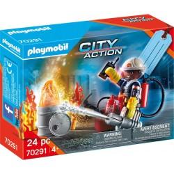 PLAYMOBIL City Action 70291 Zestaw Upominkowy STRAŻ POŻARNA
