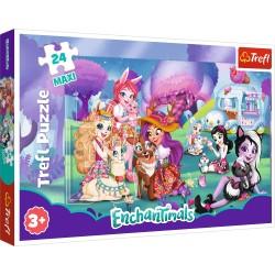 TREFL Puzzle Maxi Układanka 24 Elementy ENCHANTIMALS Wesoły Świat Enchantimals 14315