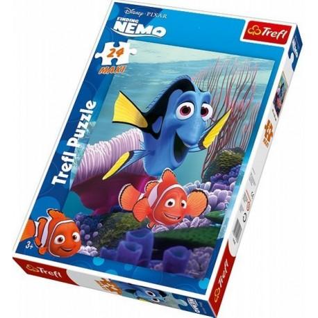 Trefl - 14162 -Puzzle 24 Maxi - Nemo i Przyjaciele