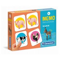 CLEMENTONI Gra MEMO Memory ZWIERZĘTA NA FARMIE 18082