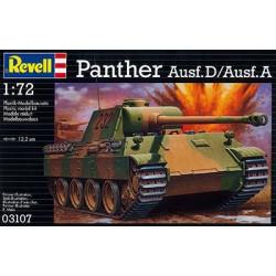 Revell - 03107 - Model do Sklejania - Skala 1:72 - Czołg Niemiecki - Panzer V Panther Ausf D/ Ausf A - PANTHER