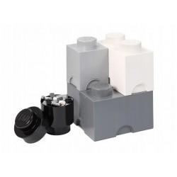 LEGO Pojemniki na Zabawki MULTI-PACK L SZARY Zestaw Czterech Pojemników 4351