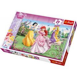 Trefl - 14135 - Puzzle 24 Maxi - Księżniczki Przy Fontannie