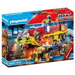 PLAYMOBIL 70557 City Action AKCJA STRAŻY POŻARNEJ Z POJAZDEM GAŚNICZYM