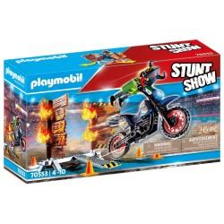 PLAYMOBIL 70553 STUNTSHOW Motor z Płonącą Przeszkodą