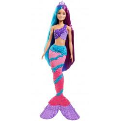 MATTEL Lalka Barbie DREAMTOPIA Mermaid Lalka z Długimi Włosami do Czesania SYRENKA GTF39