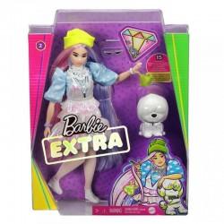 MATTEL Lalka Barbie Extra z Akcesoriami + Biały Piesek GVR05