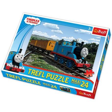 Trefl - 14126 - Puzzle 24 Maxi - Tomek i Przyjaciele Uśmiechnięta Lokomotywa