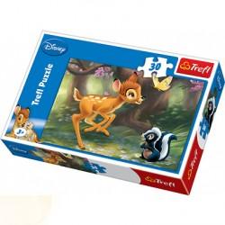 Trefl - 18132 - Puzzle 30 - Jelonek Bambi i Skunksik