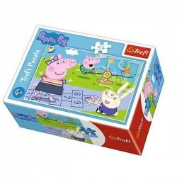 TREFL Puzzle MINI 54 Elementy Mini Układanka ŚWINKA PEPPA Wesoły Dzień Świnki Peppy 19627