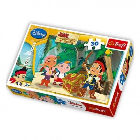 Trefl - 18182 - Puzzle 30 - Jake i Piraci z Nibylandii Skarb