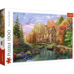 TREFL Puzzle Układanka 1500 Elementów Premium Quality CHATKA NAD JEZIOREM 26136