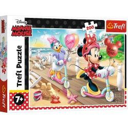 TREFL Układanka Puzzle 200 Elementów Minnie Mouse MYSZKA MINNIE NA PLAŻY 13262