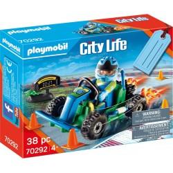 PLAYMOBIL City Life 70292 Zestaw Upominkowy WYŚCIG GO-KART