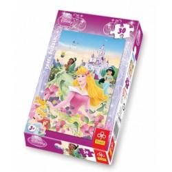 Trefl - 18156 - Puzzle 30 - Księżniczki Letni Poranek