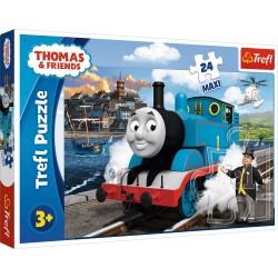 TREFL Puzzle Maxi Układanka 24 Elementy Tomek i Przyjaciele WESOŁY DZIEŃ TOMKA 14317