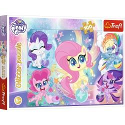 TREFL Puzzle Układanka 100 Elementów My Little Pony Kucyki Pony BŁYSZCZĄCE KUCYKI 14821
