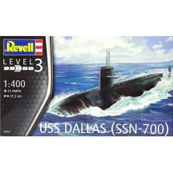 Revell - 05067 - Model do Sklejania - Skala 1:400 - Okręt Amerykański - USS DALLAS SSN -700