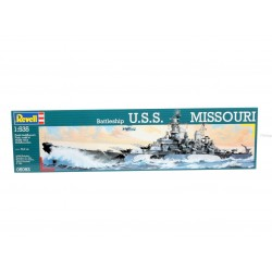 Revell - 05092 - Model do Sklejania - Skala 1:535 - Okręt Amerykański - Battleship U.S.S. MISSOURI