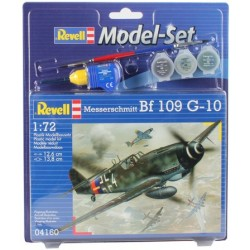 Revell - 04160 - Model do Sklejania - Skala 1:72 - Model Set - Samolot - MESSERSCHMITT BF-109 G-10