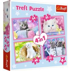 TREFL Puzzle Układanka 4w1 Kot Koty KOCIE ZABAWY 34330