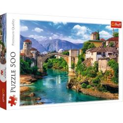 TREFL Puzzle Układanka 500 Elementów Premium Quality STARY MOST W MOSTARZE BOŚNIA I HERCEGOWINA 37333