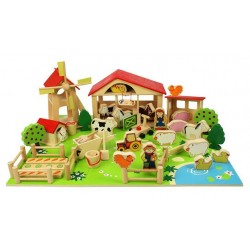 Bigjigs Toys - BJ415 - Drewniana Farma