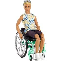 MATTEL Barbie Lalka Nr 167 KEN NA WÓZKU INWALIDZKIM GWX93