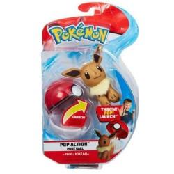 POKEMON Pop Action Figurka Maskotka EEVEE + POKE BALL 95091