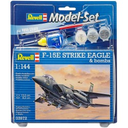 Revell - 03972 - Model do Sklejania - Skala 1:144 - Model Set - Samolot - F-15E STROKE EAGLE