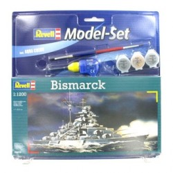 Revell - 05802 - Model do Sklejania - Skala 1:1200 - Model Set - Okręt - BISMARCK