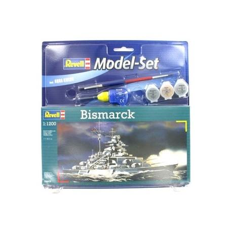 Revell - 05802 - Model do Sklejania - Skala 1:1200 - Model Set - Okręt - BISMARCK