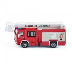 SIKU Pojazdy Metalowe 1:87 Straż Pożarna Wóz Strażacki MAGIRUS MULTISTAR TLF Z WYSIĘGNIKIEM 1749
