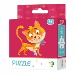 DODO Puzzle Układanka 16 Elementów Puzzle Dla Maluszków KOTEK 300112