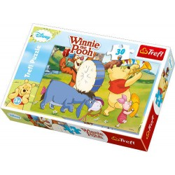 Trefl - 18168 - Puzzle 30 - Kubuś Puchatek Wesołe Zabawy