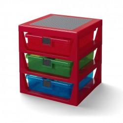 LEGO Czerwony Regał z Szufladami Na Klocki i Zabawki 4095