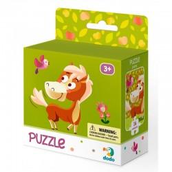 DODO Puzzle Układanka 16 Elementów Puzzle Dla Maluszków KONIK 300114