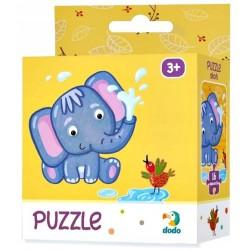 DODO Puzzle Układanka 16 Elementów Puzzle Dla Maluszków SŁONIK 300162