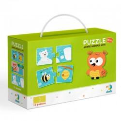 DODO Puzzle Duo 24 Elementy GDZIE ŻYJĄ ZWIERZĘTA Puzzle Dla Maluszków 300117