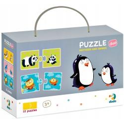 DODO Puzzle Duo 24 Elementy MAMY I DZIECI Puzzle Dla Maluszków 300150