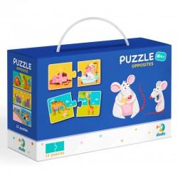 DODO Puzzle Duo 24 Elementy PRZECIWIEŃSTWA Puzzle Dla Maluszków 300151