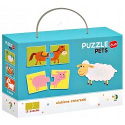 DODO Puzzle Duo 24 Elementy ZWIERZĘTA Puzzle Dla Maluszków 300115