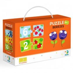 DODO Puzzle Duo 24 Elementy CYFERKI I JAGÓDKI Puzzle Dla Maluszków 300116