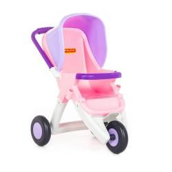 WADER POLESIE Platikowy Trójkołowy Wózek dla Lalek Spacerówka 48127