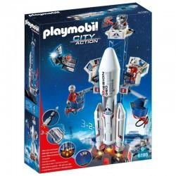 PLAYMOBIL 6195 CITY ACTION Centrum Kosmiczne - Rakieta Kosmiczna ze Stacją Bazową