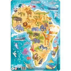 DODO Układanka Puzzle Na Podkładce Puzzle Ramkowe 53 Elementy Afryka 300175