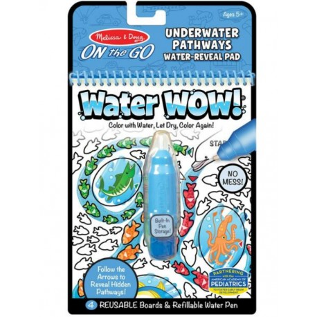 Melissa&Doug On The Go WATER WOW Malowanie Wodą Wielokrotnego Użytku PODWODNY ŚWIAT 40179