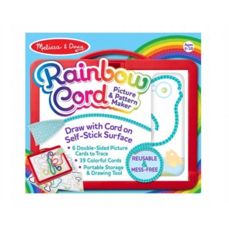 MELISSA & DOUG Rainbow Cord Tęczowe Węzły OBRAZKI ZE SZNURKÓW 40619